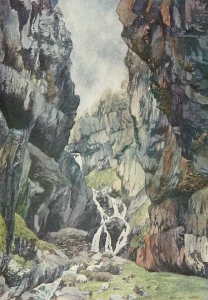 Yorkshire Dales and Fells Painted and Described - Gordale Scar (1906)