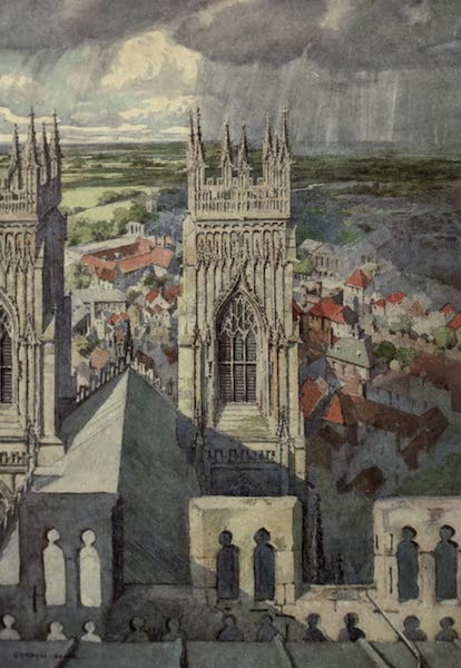 Yorkshire Painted and Described - York from the Central Tower of The Minster (1925)