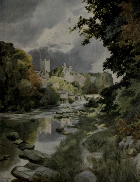 Yorkshire Painted and Described - Richmond Castle from the River (1925)