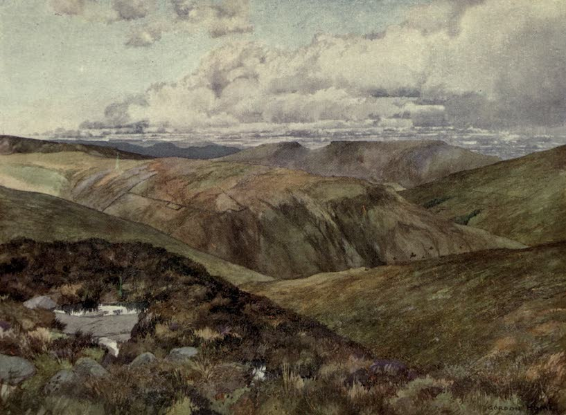 Yorkshire Painted and Described - A Rugged View Above Wensleydale (1925)