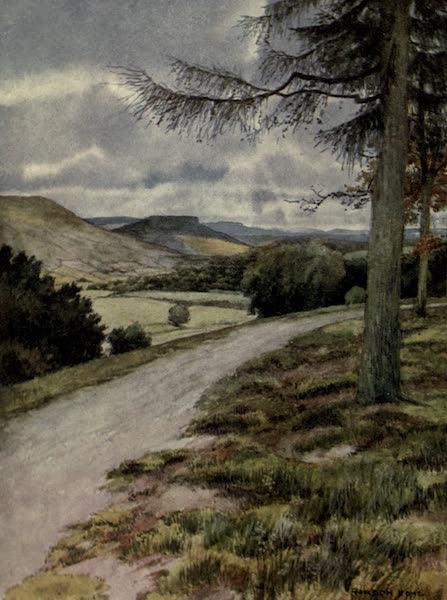 Yorkshire Painted and Described - View up Wensleydale from Leyburn Shawl (1925)