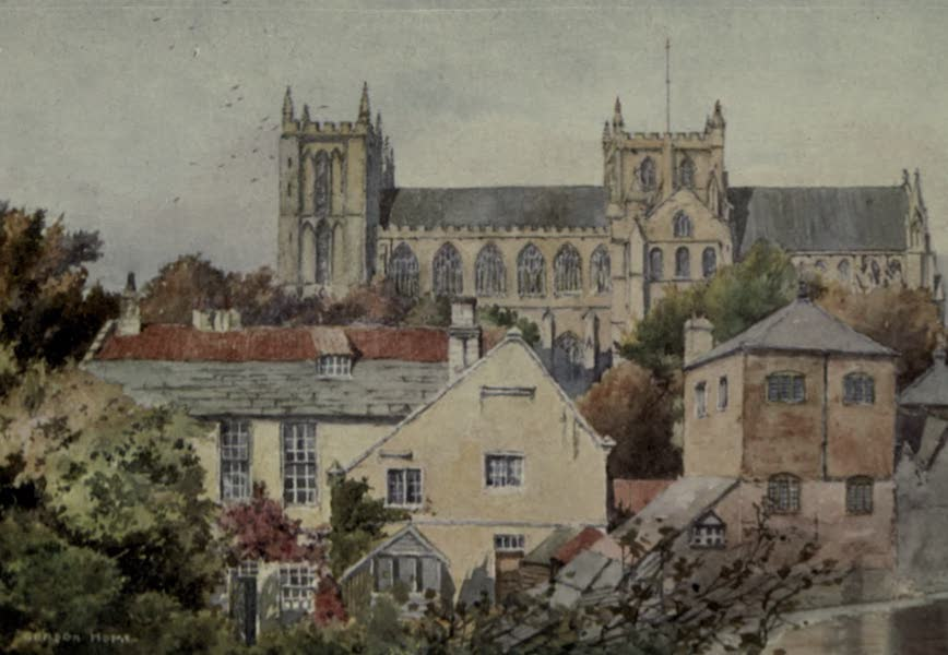 Yorkshire Painted and Described - Ripon Minster from the South (1925)