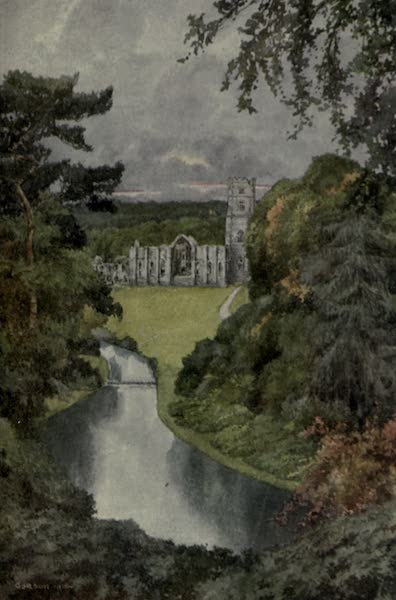 Yorkshire Painted and Described - Fountains Abbey (1925)
