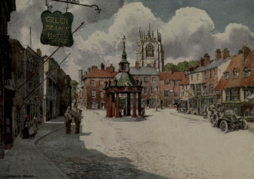 Yorkshire Painted and Described - The Market-place, Beverley (1925)