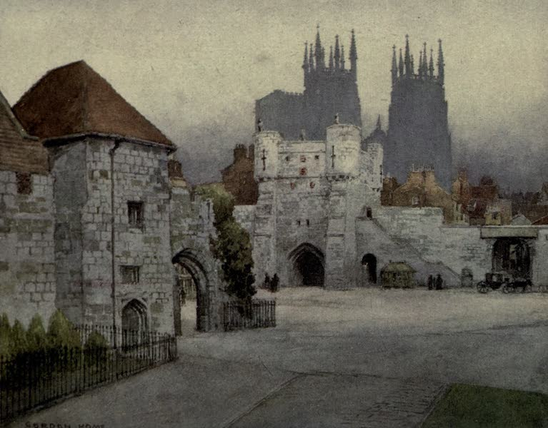 Yorkshire Painted and Described - Bootham Bar, York (1925)