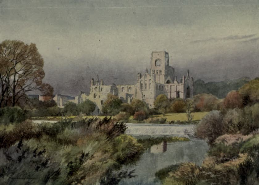 Yorkshire Painted and Described - Kirkstall Abbey, Leeds (1925)