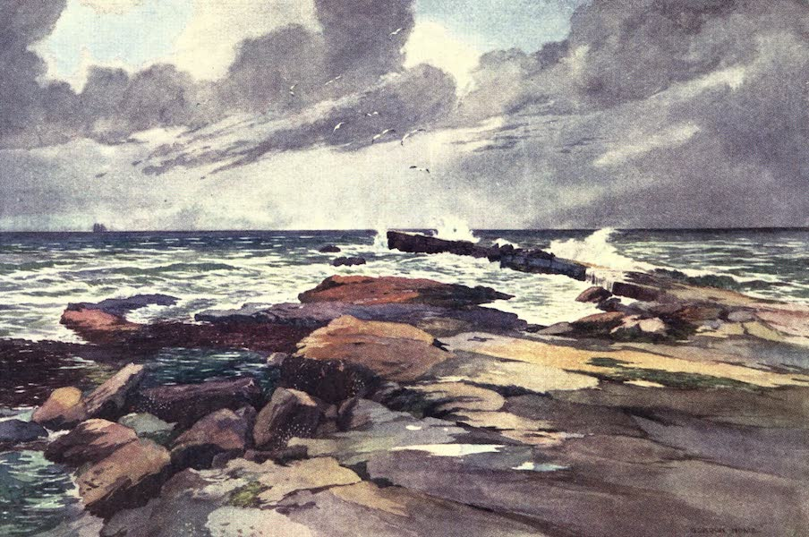 Yorkshire Vales and Wolds Painted and Described - Filey Brig (1908)