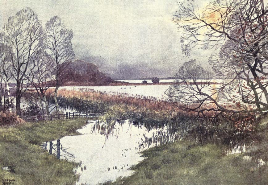 Yorkshire Vales and Wolds Painted and Described - Hornsea Mere (1908)