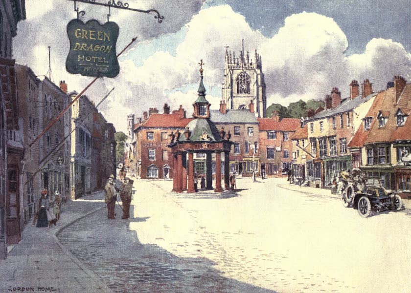 Yorkshire Vales and Wolds Painted and Described - The Market Place, Beverley (1908)