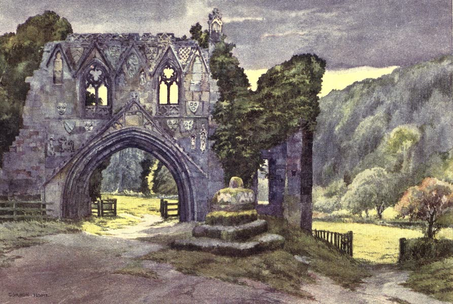 Yorkshire Vales and Wolds Painted and Described - Kirkham Abbey (1908)