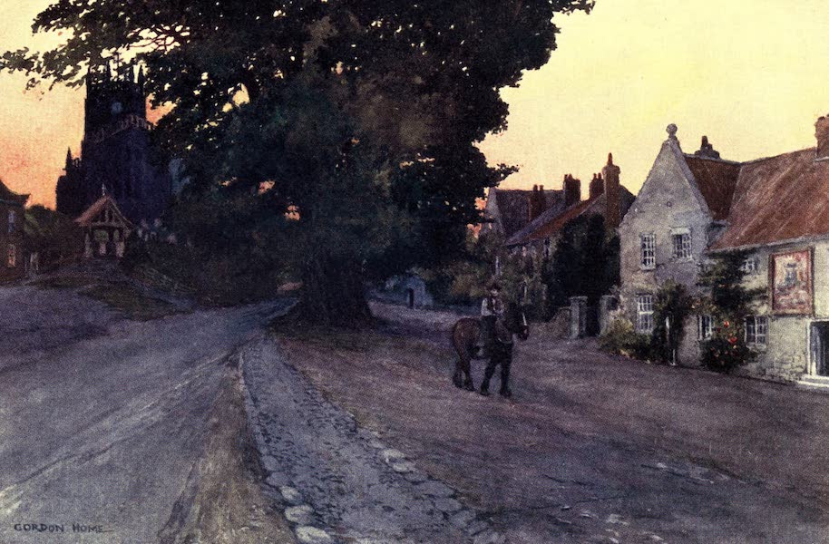 Yorkshire Vales and Wolds Painted and Described - Coxwold Village (1908)