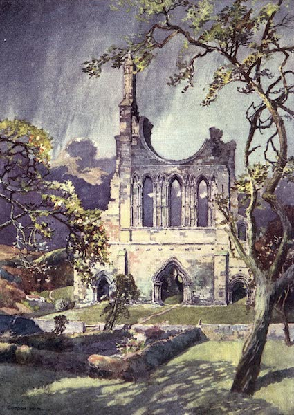 Yorkshire Vales and Wolds Painted and Described - The West Front of the Church of Byland Abbey (1908)