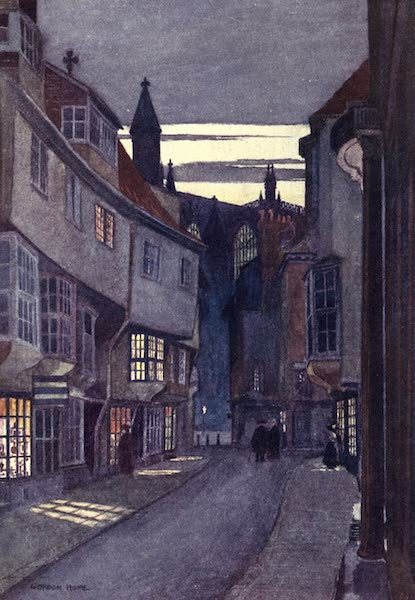 Yorkshire Vales and Wolds Painted and Described - Stonegate, York (1908)