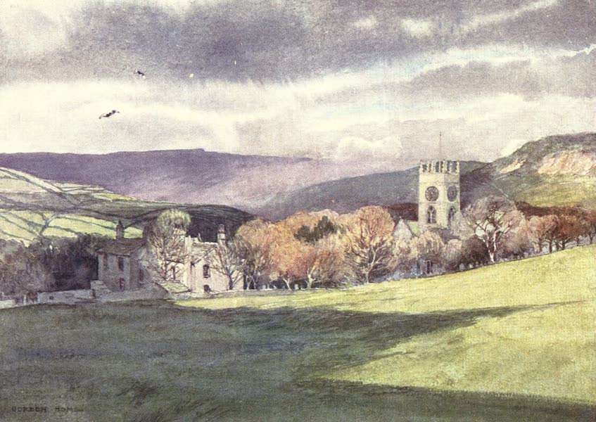 Yorkshire Vales and Wolds Painted and Described - Haworth Church and 'Parsonage' (1908)