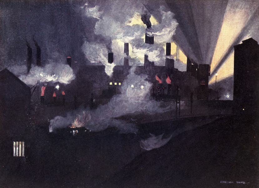 Yorkshire Vales and Wolds Painted and Described - Iron Foundries at Brightside, Sheffield (1908)